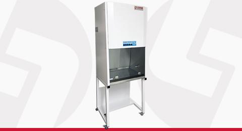 Cabine de Fluxo Unidirecional Vertical Linter Filtros 100% de Recirculação do Ar