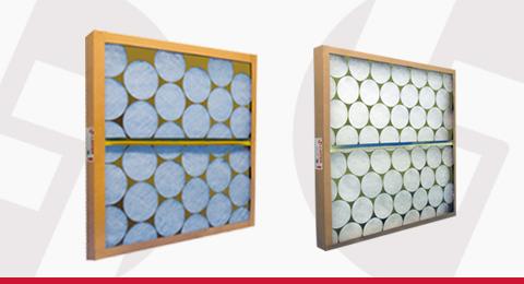 Filtros de Ar Descartáveis em Fibra de Vidro e Poliéster